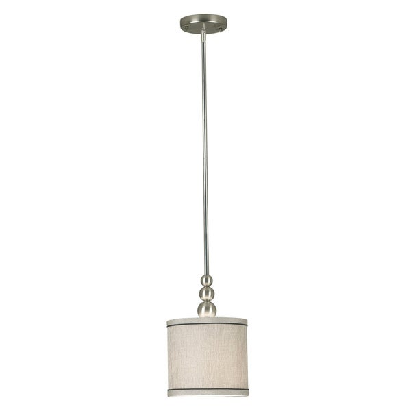 Design Craft Stewart Brushed Steel 1-light Mini Pendant