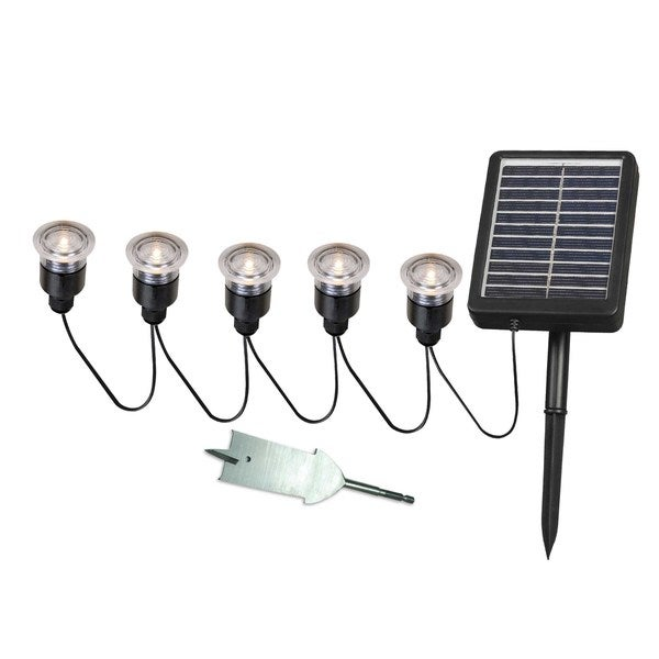 Nova Solar Deck Dock And Path Light 5 String With Remote Panel