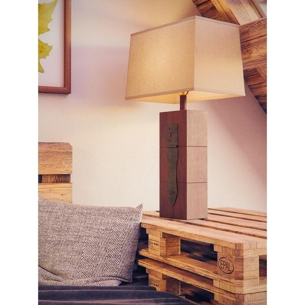 Jarvis 30-inch Wood Grain Table Lamp