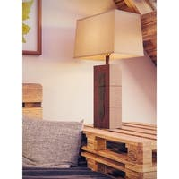 Jarvis 30-inch Wood Grain Table Lamp