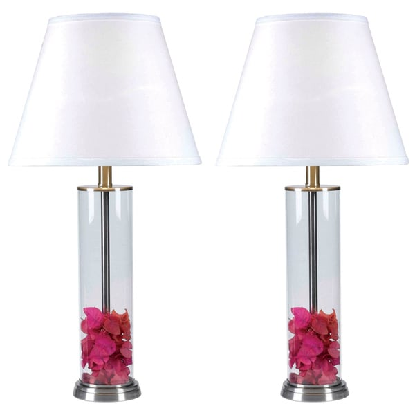 Clear Glass Fillable Table Lamp (Set of 2) - Free Shipping Today ...