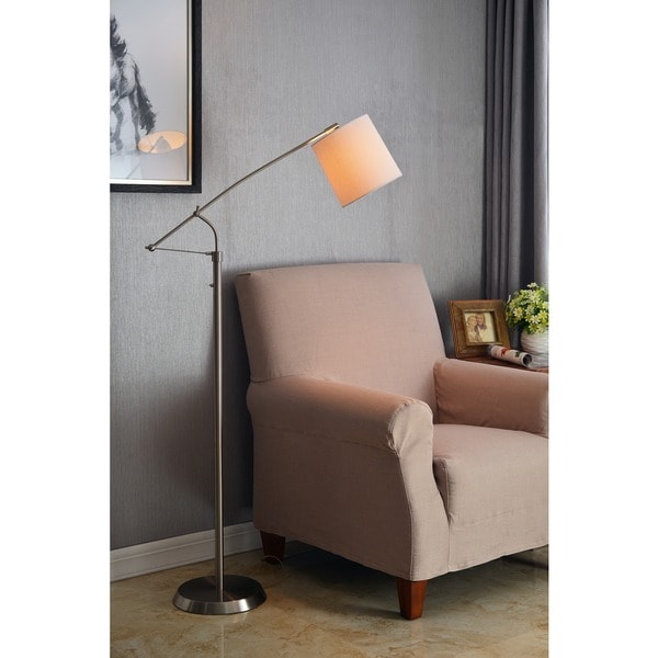 Maddox Brushed Steel Floor Lamp
