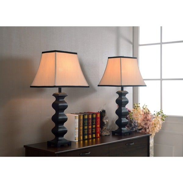 akers table lamp set of 2 free shipping today. Black Bedroom Furniture Sets. Home Design Ideas