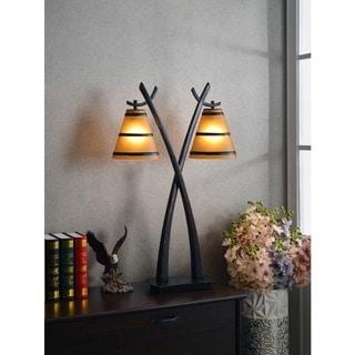 Design Craft Iommi Oil Rubbed Bronze 2-light Table Lamp