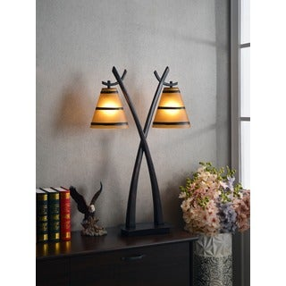 iommi 2light oil rubbed bronze table lamp - Living Room Lamps