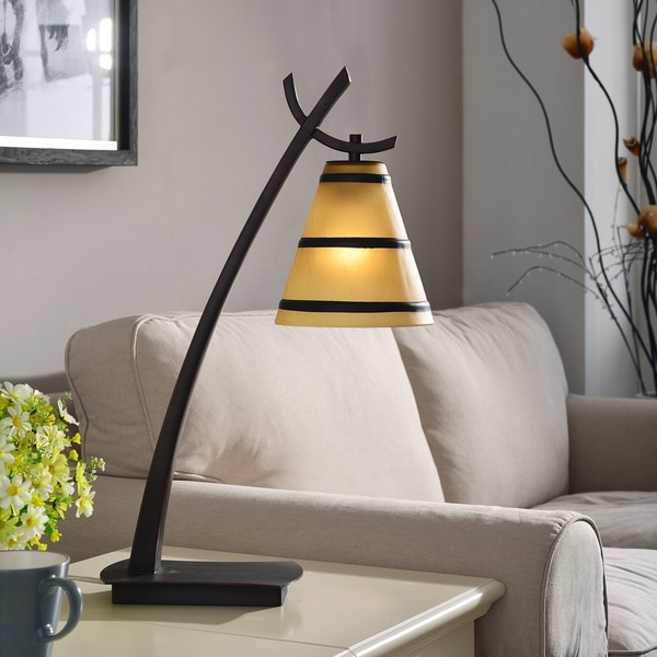 Pine Canopy Tombigbee Oil Rubbed Bronze 1-light Table Lamp