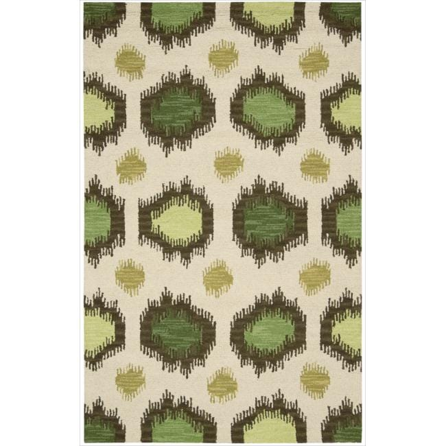 Nourison Hand-tufted Siam Ivory Rug (3'6 x 5'6)