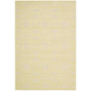 Nourison Graphic Illusions Damask Yellow Cream Rug (2'3 x 3'9)