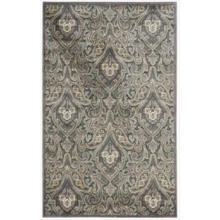"Nourison Graphic Illusions Paisley Multi Grey Rug (2'3 x 3'9) - 2'3"" x 3'9"""