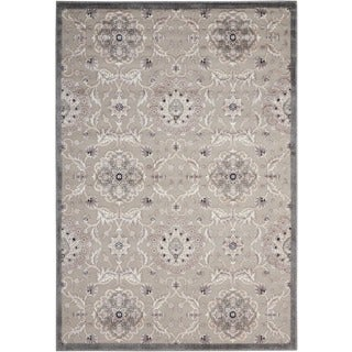Nourison Graphic Illusions Grey Modern Traditional Rug (2'3 x 3'9)