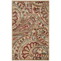 "Nourison Graphic Illusions Paisley Red Multi Rug - 2'3"" x 3'9"""