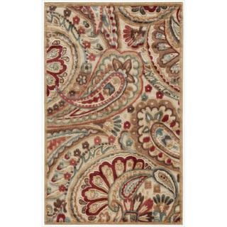 "Nourison Graphic Illusions Paisley Red Multi Rug (2'3 x 3'9) - 2'3"" x 3'9"""