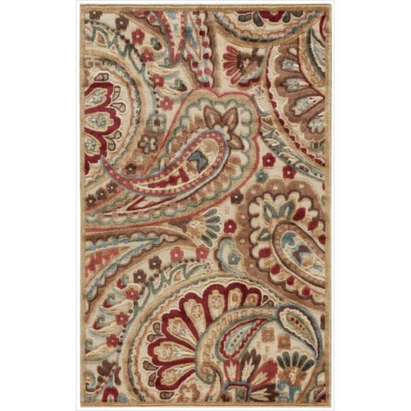 Nourison Graphic Illusions Paisley Red Multi Rug (2'3 x 3'9)