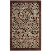 "Nourison Graphic Illusions Chocolate Brocade Pattern Rug (2'3 x 3'9) - 2'3"" x 3'9"""