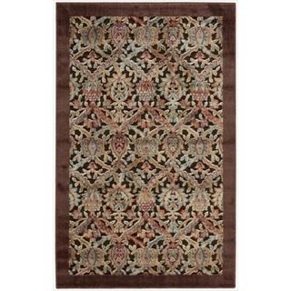 Nourison Graphic Illusions Chocolate Brocade Pattern Rug (2'3 x 3'9)