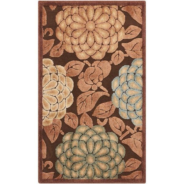 Nourison Graphic Illusions Floral Pastel Multi Color Rug  (2'3 x 3'9)