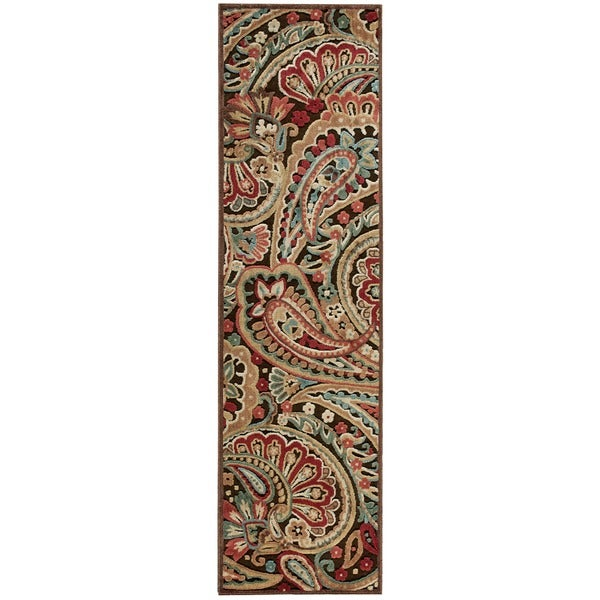 Nourison Graphic Illusions Paisley Multicolor Rug (2'3 x 8')