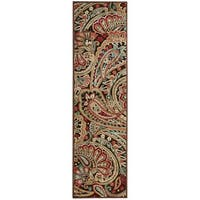 "Nourison Graphic Illusions Paisley Multicolor Rug - Multi - 2'3"" x 8'"