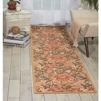 "Nourison Graphic Illusions Gold Flower Pattern Rug (2'3 x 8') - 2'3""x 8'"
