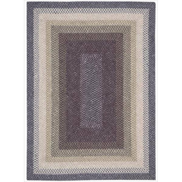 Nourison Hand-woven Craftworks Braided Violet Multi Rug (7'6 x 9'6) - 7'6 x 9'6