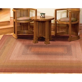 Nourison Hand woven Craftworks Braided Sunset Multi Rug (7'6 x 9'6)