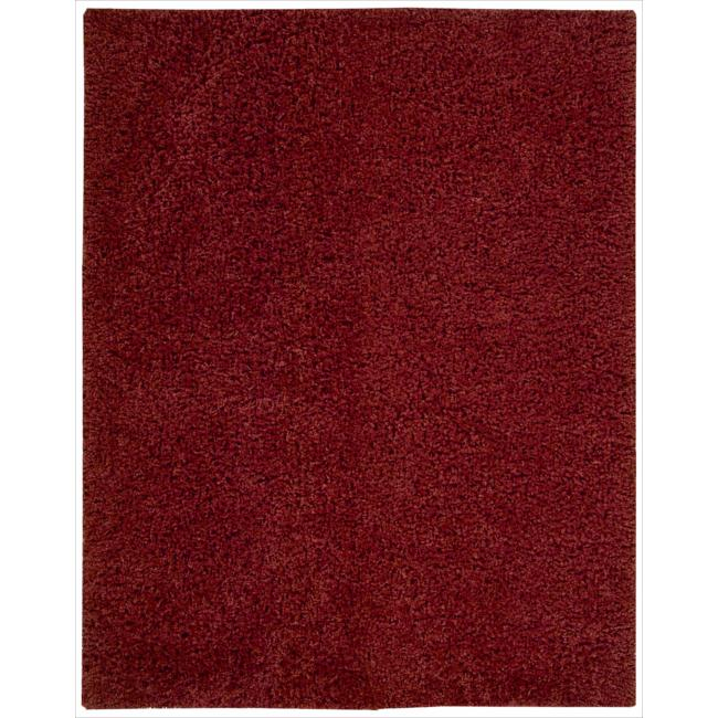 Nourison Zen Red Shag Area Rug (7'6 x 9'6)