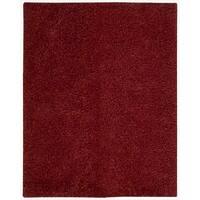 Nourison Zen Red Shag Area Rug - 7'6 x 9'6
