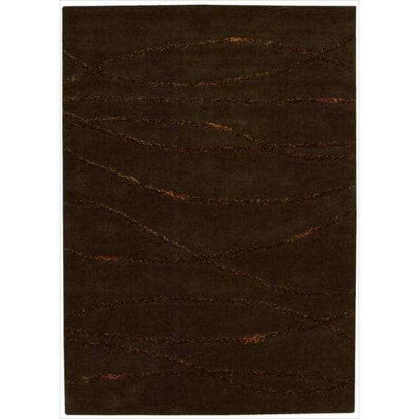 Joseph Abboud Monterey Brown Area Rug by Nourison (5'3 x 7'4)