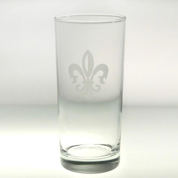 Rolf Glass Grand Fleur De Lis Cooler 15 ounce (Set of 4)