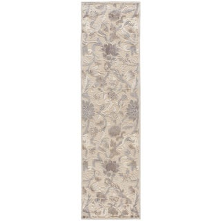 Nourison Graphic Illusions Ivory Floral Pattern Rug (2'3 x 8')