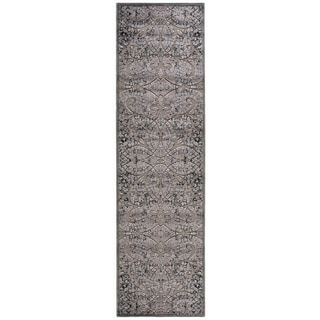 Nourison Graphic Illusions Moasic Grey Rug (2'3 x 8')