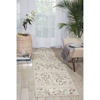 "Nourison Graphic Illusions Silver Swirl Transitional Multi Rug - 2'3"" x 8'"