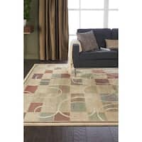 Nourison Expressions Block Beige Print Rug - 9'6 x 13'6