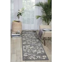 "Nourison Graphic Illusions Black Swirl Multi Transitional Rug (2'3 x 8') - 2'3""x 8'"