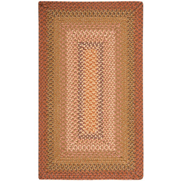 Nourison Hand-woven Craftworks Braided Sunset Multi Rug (2'3 x 3'9)