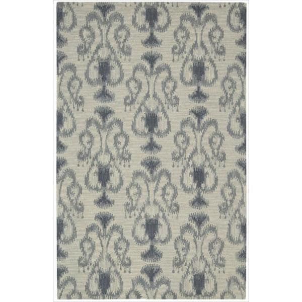 Nourison Hand-tufted Siam Silver Rug (3'6 x 5'6)