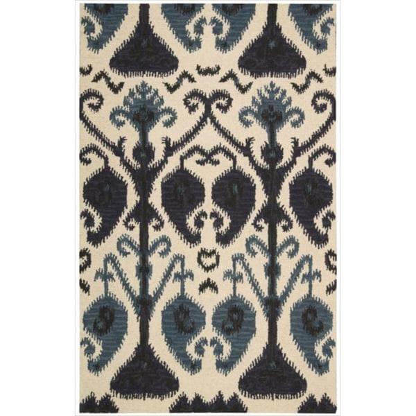Nourison Hand-tufted Siam Beige Rug (5'6 x 7'5)
