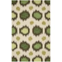 Nourison Hand-tufted Siam Ivory Rug (5'6 x 7'5)