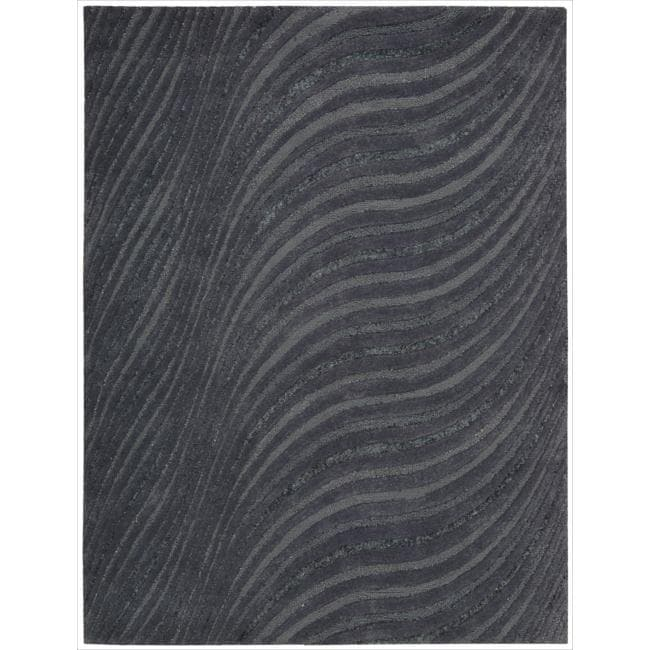 Joseph Abboud Modelo Charcoal Area Rug by Nourison (5'6 x 7'5)