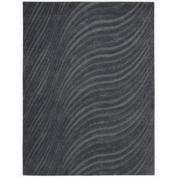 "Joseph Abboud Modelo Charcoal Area Rug by Nourison - 5'6"" x 7'5"""