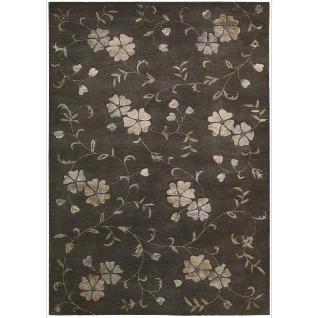Nourison Hand-tufted Oasis Scattered Floral Mushroom Rug (8' x 11')