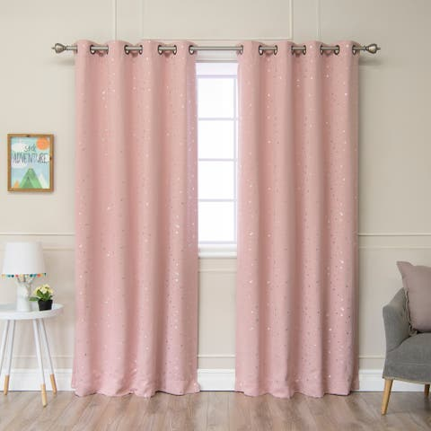"""Aurora Home Star Struck 84""""L Thermal Insulated Blackout Curtain Pair - 52 x 84"""