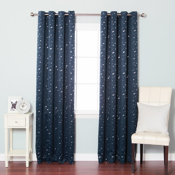 Aurora Home Star Struck Grommet Top 84-inch Thermal Insulated Blackout Curtain Panel Pair