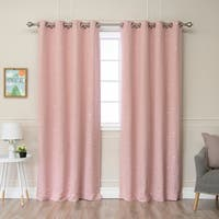 Aurora Home Star Struck 52-inch x 84-inch Grommet-top Thermal Insulated Blackout Curtain Panel Pair