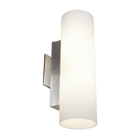 Access Taboo 2-light Brushed Steel 15.5-inch Wall Sconce