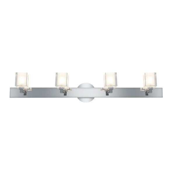 Access Glas'e 4-light Chrome Square Vanity Fixture
