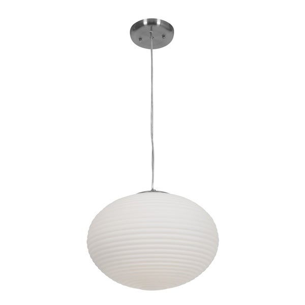 Access Callisto 2-light Brushed Steel Pendant