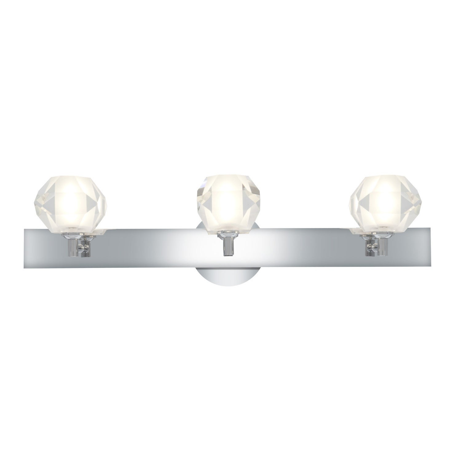 Access Glas'e 3-light Chrome Diamond Vanity Fixture