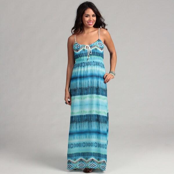 Institute Liberal Women's Blue Tye Dye Maxi Dress