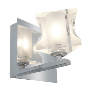 Access Glas'e 1-light Chrome Triangular Vanity Fixture